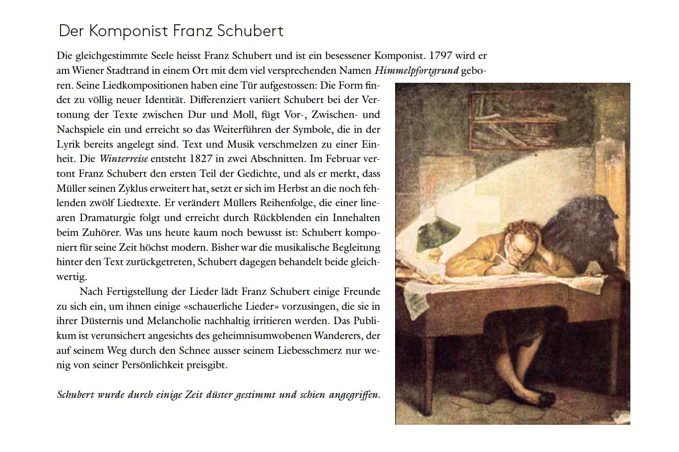 Der Komponist Franz Schubert