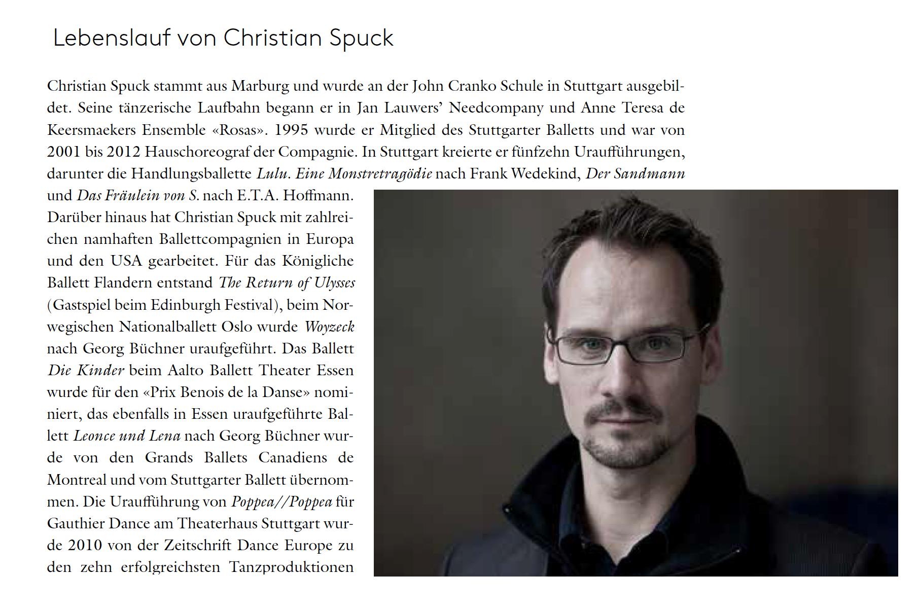 Ballett Zürich Direktor Christian Spuck