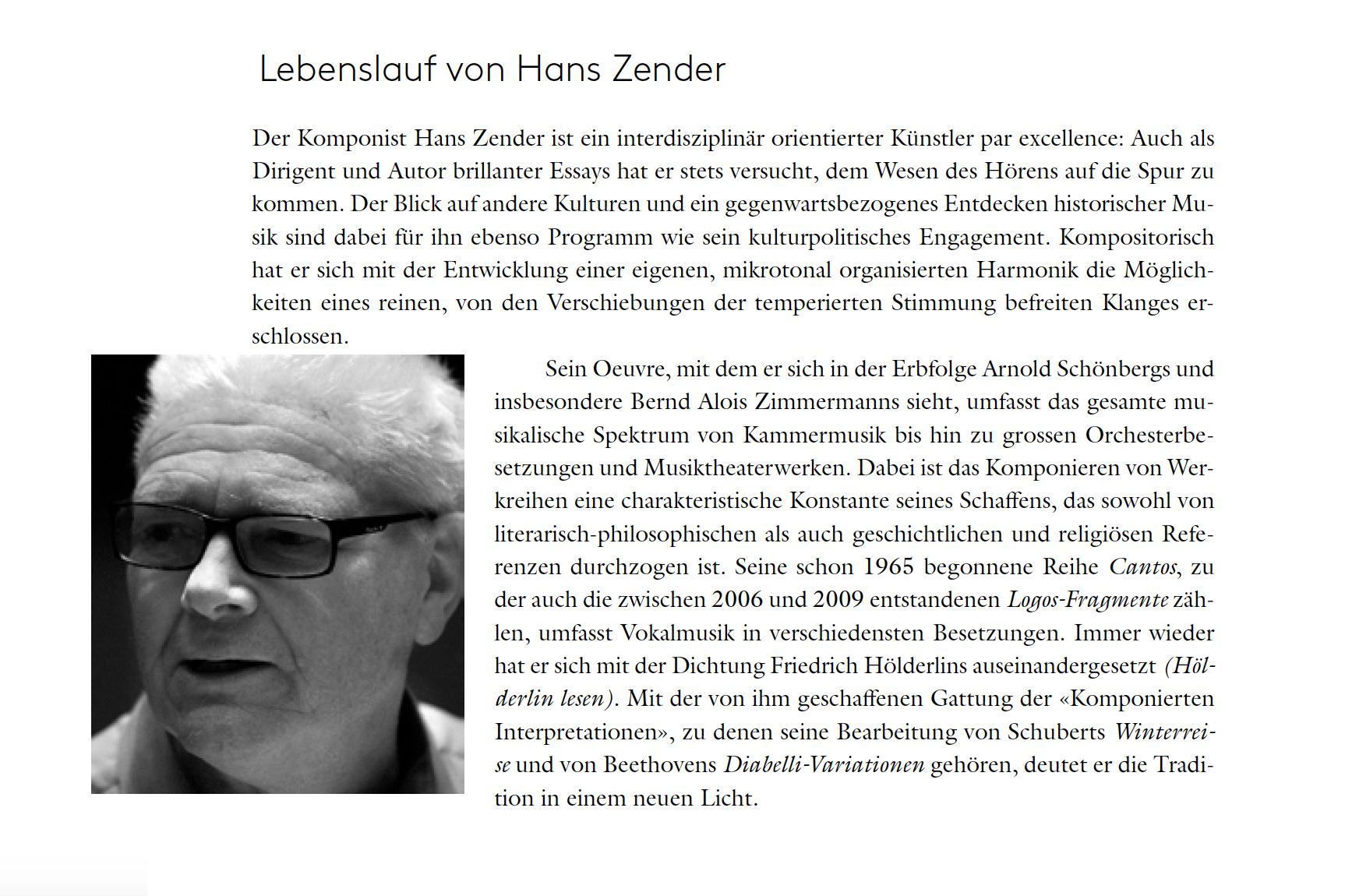 Lebenslauf Hans Zender